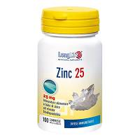 LONGLIFE ZINC 25MG 100CPR